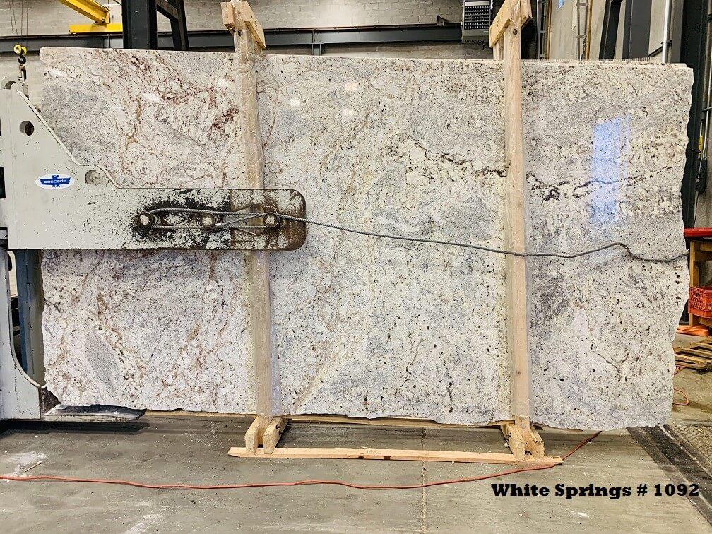 white Springs granite IGM Lot 1092