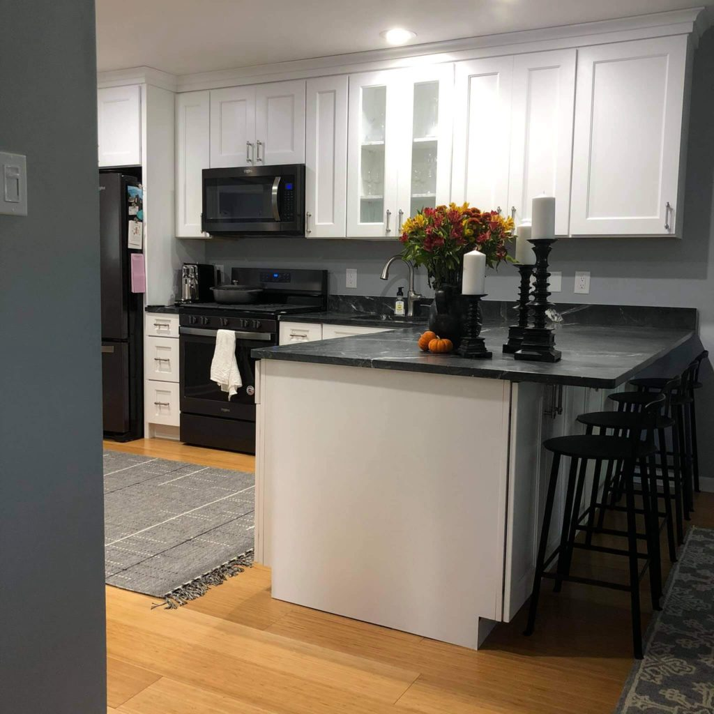 Kitchen Remodel Peninsula After